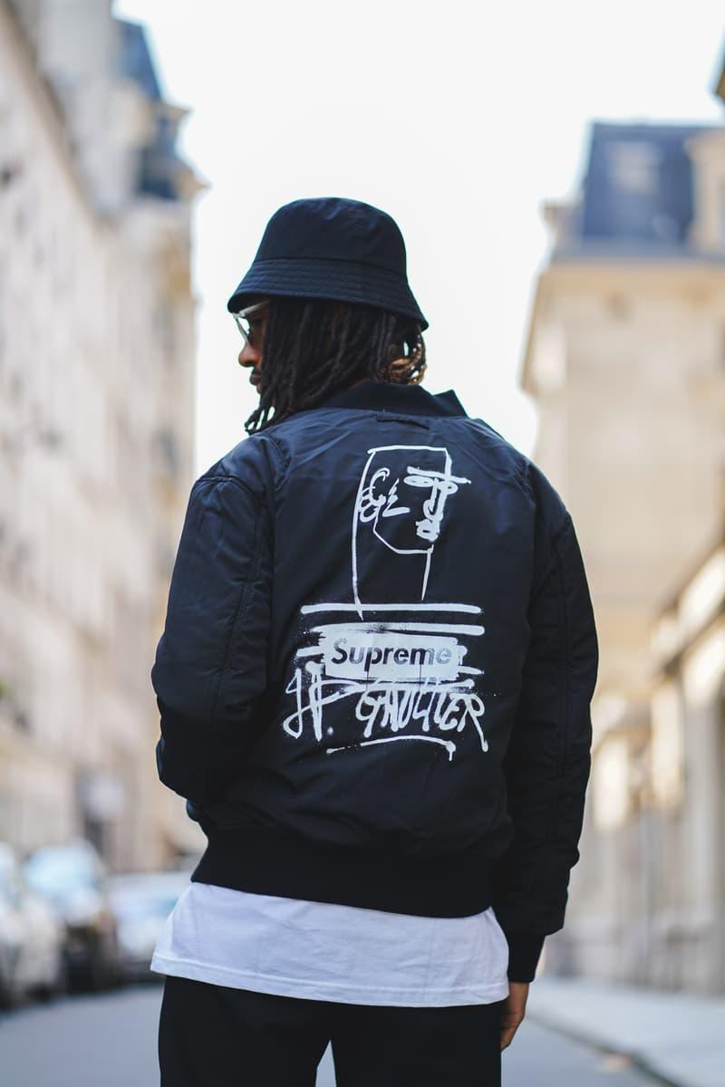 シュプリーム ジャン=ポール・ゴルチエ Supreme Jean Paul Gaultier Collection SS19 Spring Summer 2019 Paris Street Photography Looks Drop Dates Structure Paris Shop Editorial Photoshoot