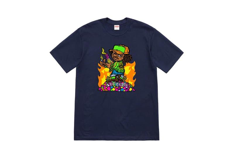Supreme シュプリーム 2019年 春 シーズン 最新 Tシャツ コレクション サルバドール・ダリ 記憶の固執 溶けた時計 アンディ ハウエル