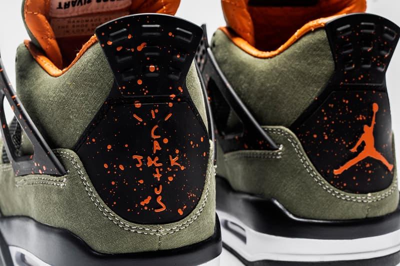 The Shoe Surgeon Travis Scott Air Jordan 1 AJ4 Military Inspired Authentic Vintage Fabric Python Swoosh Luxury 1 of 1 Exclusive Quilted Orange Plonge Canvas Black White Khaki Astroworld Tour Custom Sneakers Footwear