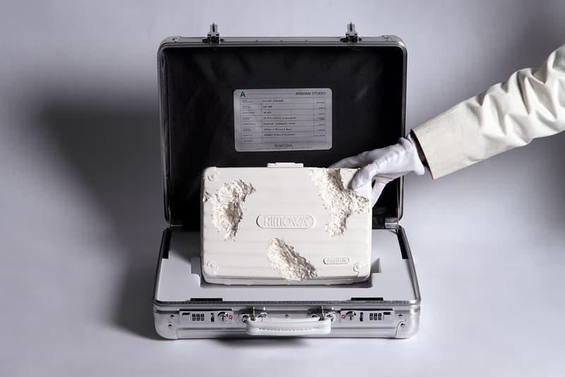 """リモワ ダニエル・アーシャム Daniel Arsham Studio Rimowa Collaboration コラボアタッシュケース Frieze NY Art Fair Vintage Suitcase Limited Edition """"Eroded"""" Sculpture """"Future Relic"""" Series Sotheby's Auction House 2200 USD RRP"""