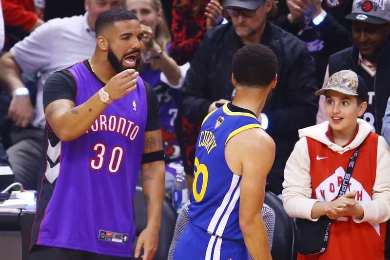 ドレイク Drake NBAファイナル ステフィン・カリー Stephen Curry dell curry デル・カリー