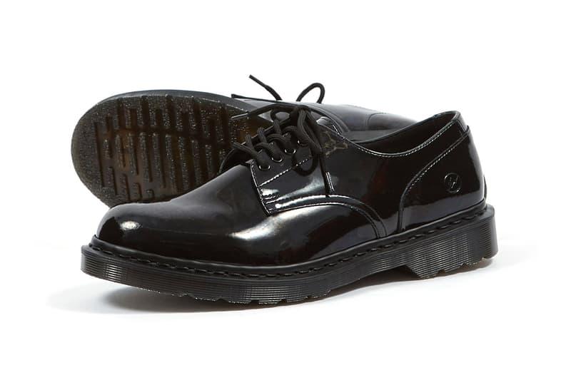フラグメント x ドクターマーチン 藤原ヒロシ Dr Martens x fragment design Hollingborn Derby Hiroshi Fujiwara Sneaker Footwear Release Patent Leather 1461 Limited Edition Goodhood Raffle Closer Look