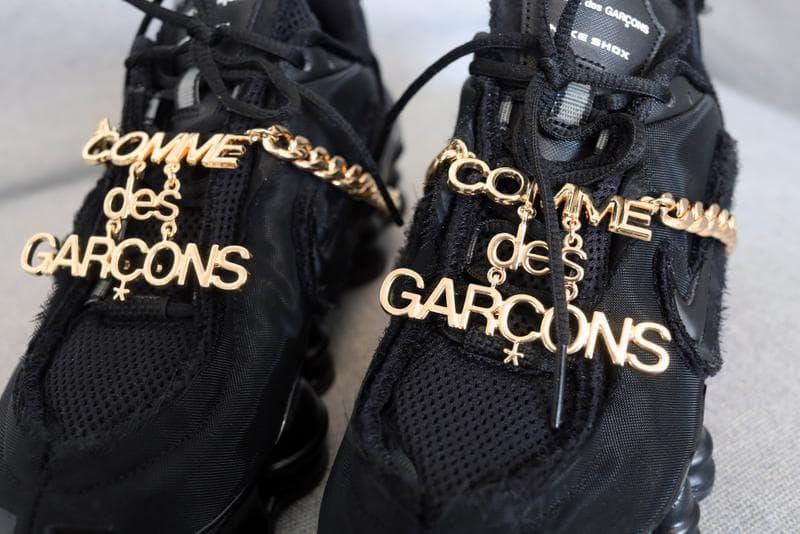 コムデギャルソン ナイキ nike COMME des GARÇONS 最新 コラボ スニーカー シューズ ショックス CDG Shox TL クローズアップ
