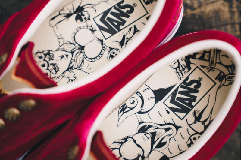 ジョジョの奇妙な冒険 x ヴァンズ Vans コラボスニーカー クローズアップ ブチャラティ ジョルノ