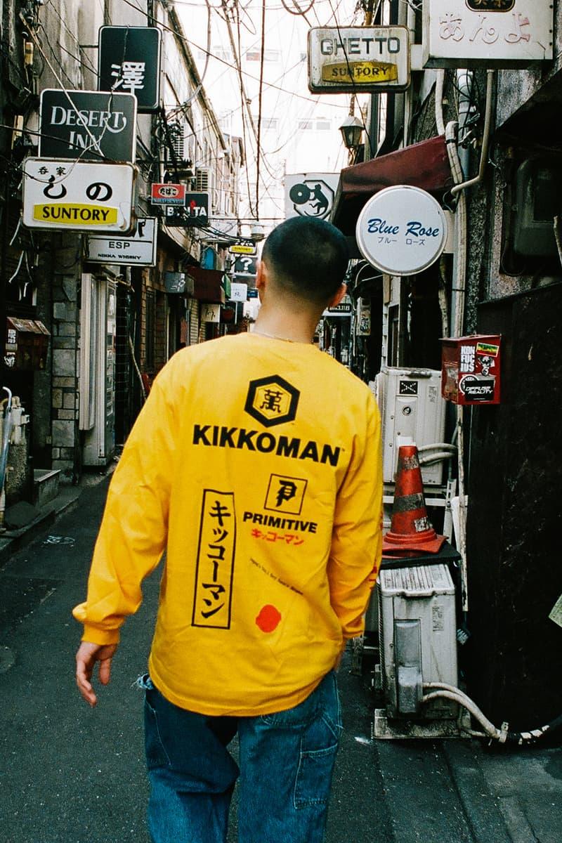 キッコーマン プリミティブ Primitive オンライン 取扱 店舗 スケートボード Tシャツ フーディー パーカー デッキ 醤油さし
