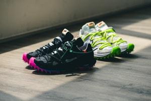 Off-White™ x Nike による新作コラボシューズ Zoom Terra Kiger 5 にクローズアップ