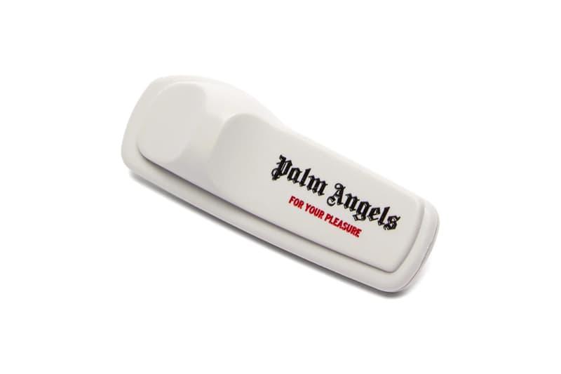 """パームエンジェルス Palm Angels Anti-Theft Pin Release Info drop price date info matchesfashion.com AW19 runway show F/W19 clothing security tag """"For Your Pleasure"""" accessory"""