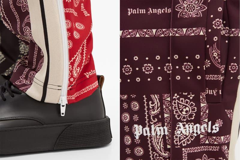 パーム・エンジェルスがバンダナ柄を採用したトラックパンツをリリース Palm Angels Patchwork-bandana jersey track pants