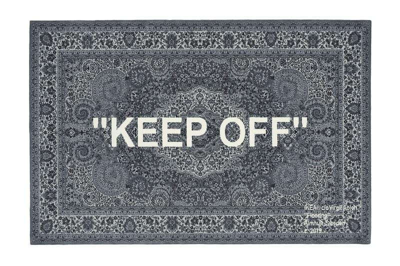 """イケア ヴァージル・アブローのコラボによるラグ""""KEEP OFF""""の再販が決定 virgil abloh ikea HYPEBEAST ハイプビースト"""