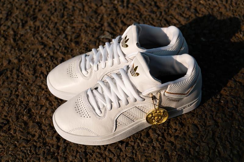 タイショーン・ジョーンズ  Tyshawn jones adidas skateboarding 初 プロ シグネチャー 白 トリプルホワイト モデル Tyshawn Triple White クローズアップ