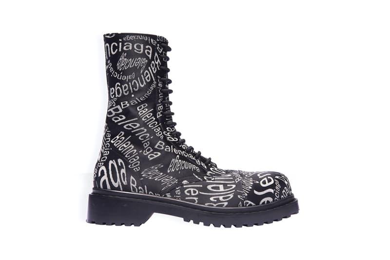 バレンシアガ balenciaga logo wave boots fall winter 2019 release