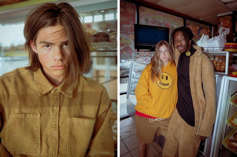 ドリューハウス Drew House 2019 新作 コレクション Collection Corduroy and Smiley Face California Los Angeles hotel slippers unisex brown