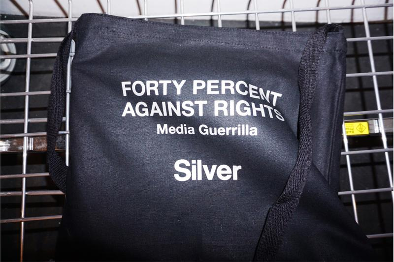 FORTY PERCENTS AGAINST RIGHTS® シルバー  フォーティーパーセント アゲインスト ライツ Silver 限定 コラボ Tシャツ バッグ 発売