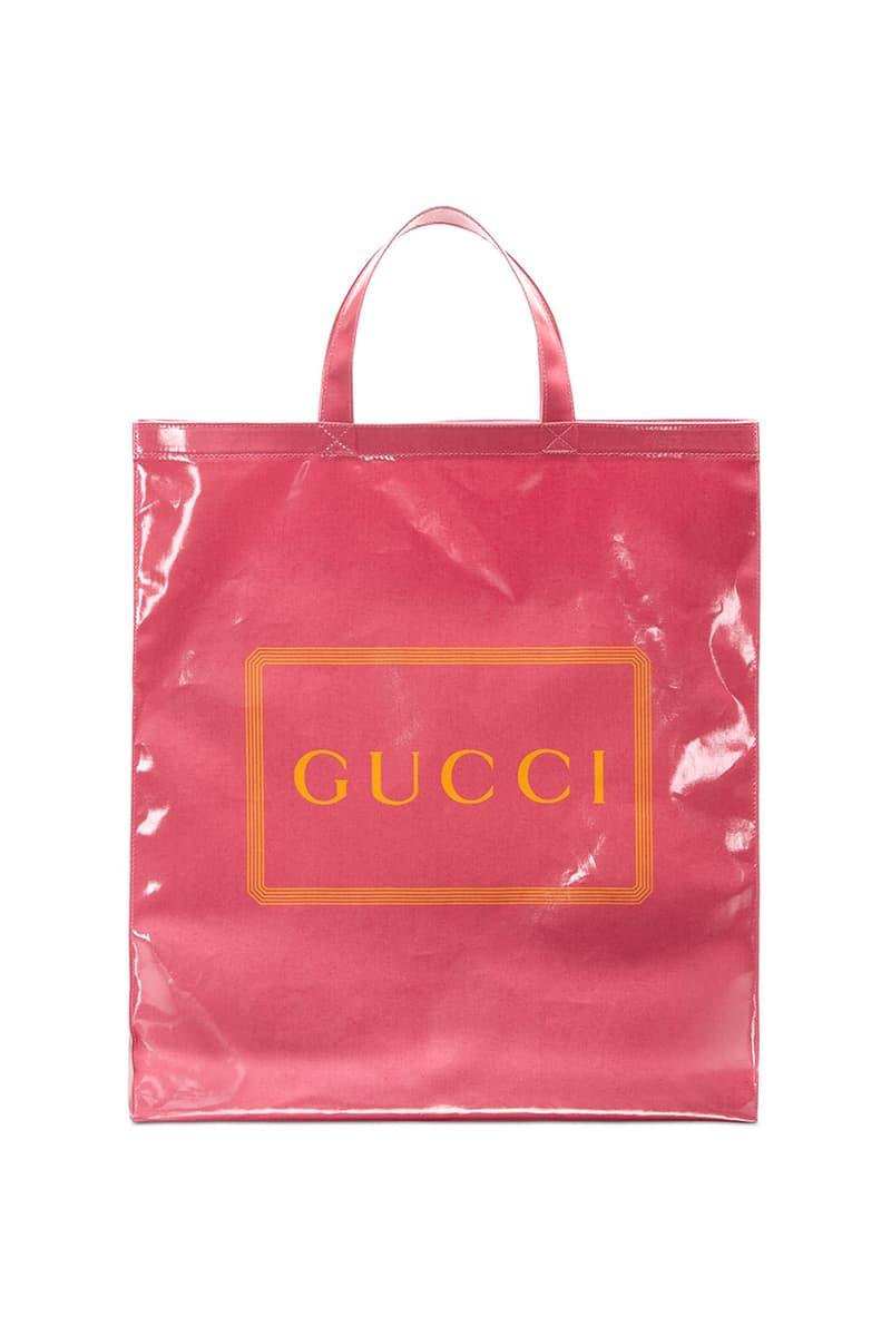 グッチ Gucci Menswear Tote Bags Runway Ad Campaing Coated Cotton Floral Check Box Print Pink Black Yellow Burgundy $790 USD Pre-Fall 2019