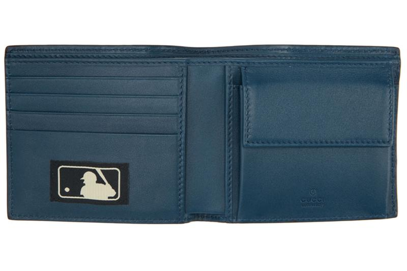 グッチ Gucci ニューヨーク ヤンキース NY Yankees Patch Wallet Blue MLB Baseball Collaboration bi fold