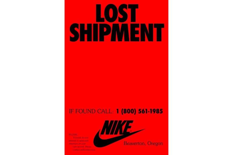 Nike ナイキ 謎 最新 キャンペーン LOST SHIPMENT ロストシップメント  トラック  ストレンジャー・シングス