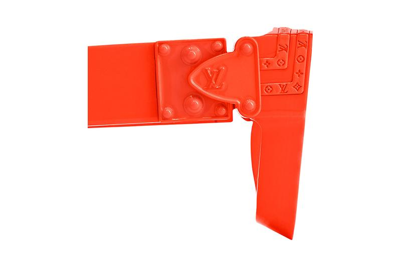 Virgil Abloh Louis Vuitton Orange Capsule at MCA chicago museum contemporary art menswear glasses