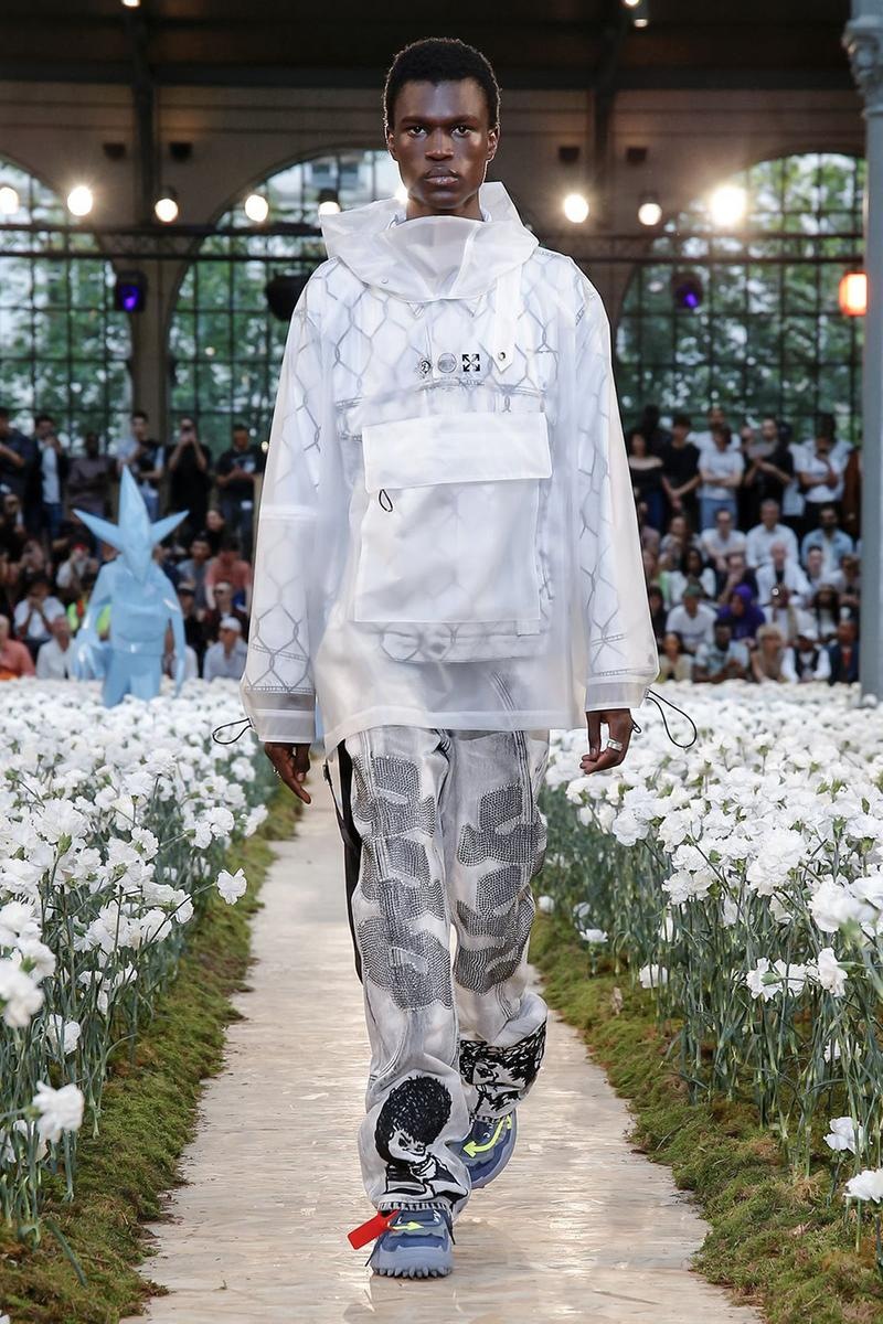 オフホワイト off white Virgil Abloh ヴァージル・アブロー spring summer 2020 ss20 paris fashion week virgil abloh futura nike runway backstage full collection look collaborations pfw mens menswear