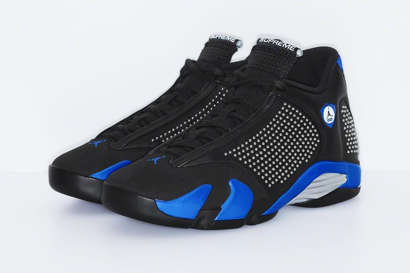 Supreme Air Jordan XIV 14 Official Look black blue White Michael Jordan Release Info Date Price