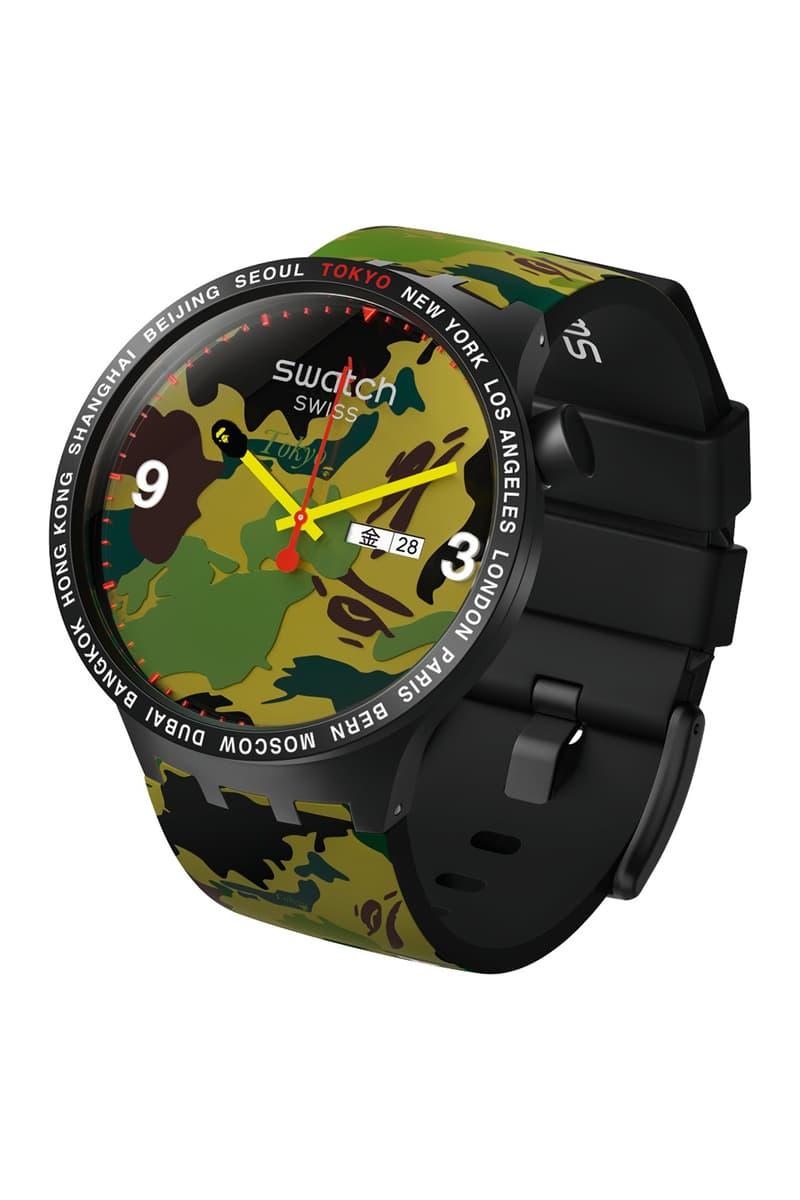 ア・ベイシング・エイプ x スウォッチ コラボウォッチが登場 Swatch x BATHING APE® 時計 コラボレーション