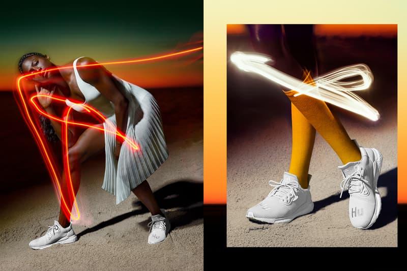 "adidas アディダス Pharrell Williams ファレル・ウィリアムス コラボ 新作フットウェア SolarHu PRD Glide ""Greyscale"" Pack Tonal Colorways Release Information Sneakers Drop PW Three Stripes White Black Grey Cream BOOST"