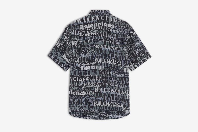 Balenciaga よりロゴをオールオーバー・プリントした新作シャツが登場 Mixed Typo Short Sleeves Shirt NOIR LAVE for Men