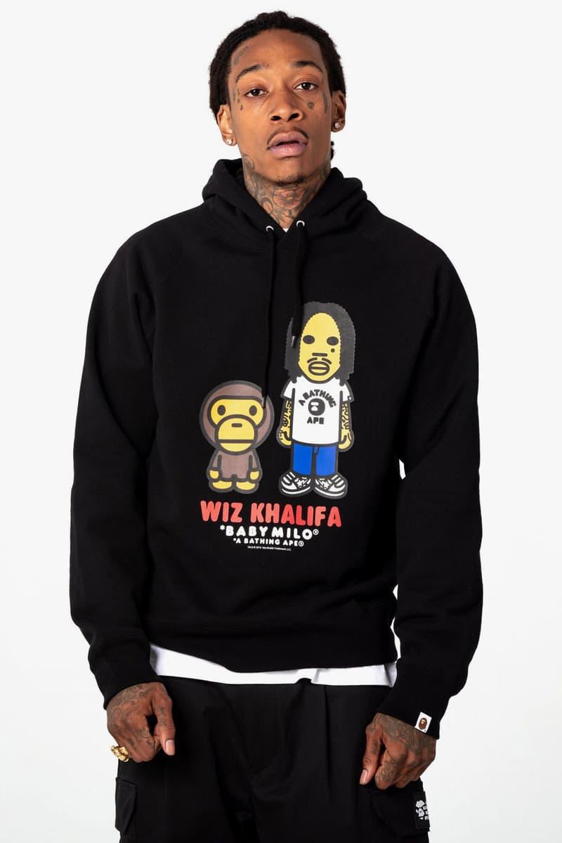 Wiz Khalifa ウィズカリファ x BAPE ベイプ SS19 Collection ア ベイシング エイプ a bathing ape spring summer 2019 コラボ コレクション lookbooks bape heads show concerts mankey baby milo