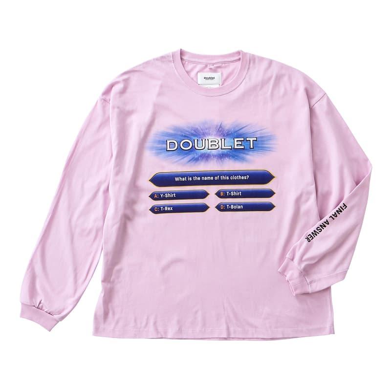 doublet wism ダブレット ウィズム クイズミリオネア コラボ Tシャツ オンライン