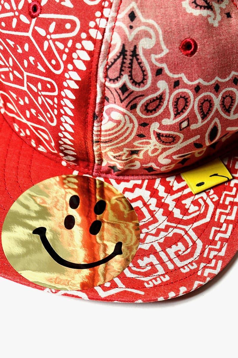 キャピタル バンダナ柄 新作キャップが登場 Kapital Bandana Patchwork Baseball Cap Red Smiley face blue black green japan buy release date info