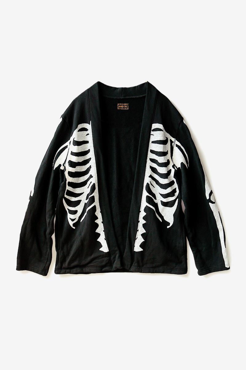 キャピタル スケルトングラフィック カカシシャツ Kapital Eco Fleece Kakashi Bone Shirt Release Info Japanese fashion americana skeleton print drop date price kapital.co.jp