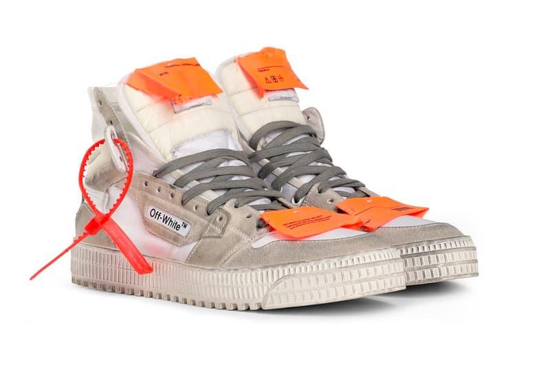 オフホワイト Off-White™ Drops ヴィンテージ加工 新作 スニーカー Distressed Suede Off-Court 3.0 Sneakers in White