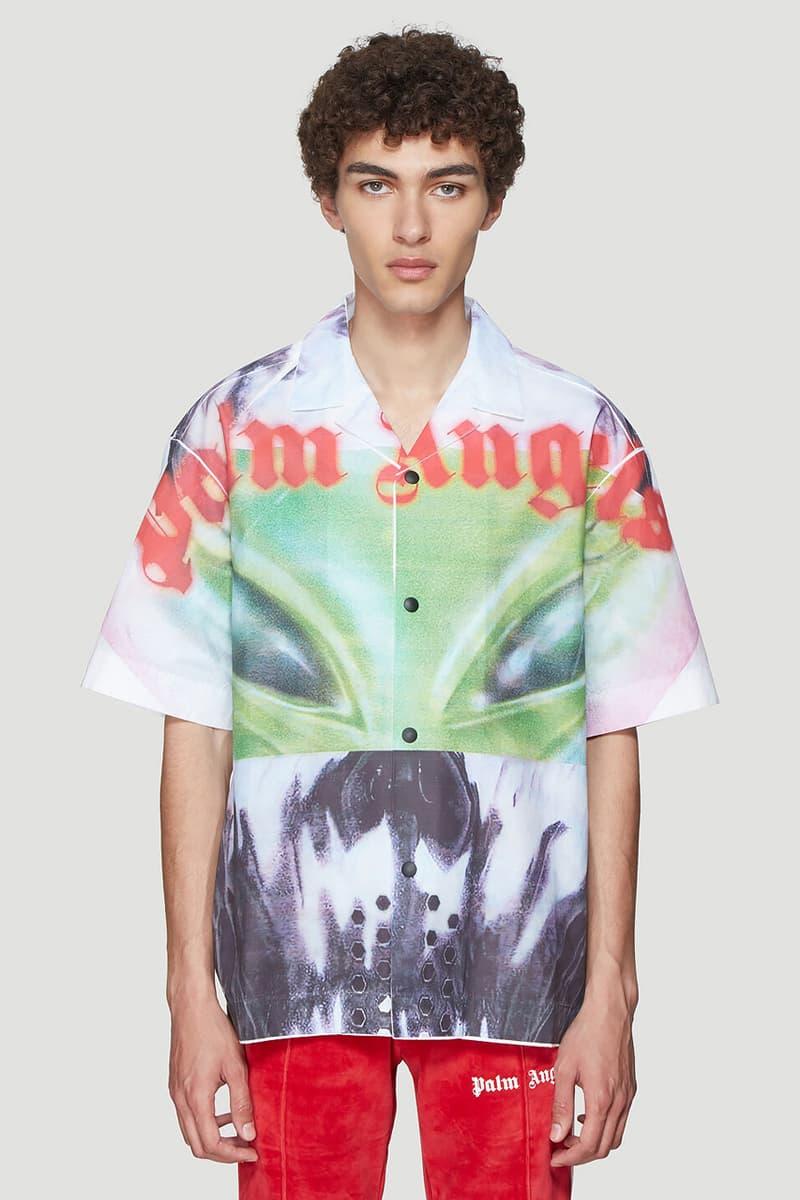 パーム エンジェルス Palm Angels Sweatshirt Bowling Shirt エイリアン Aliens White Black Green Red graphic 秋冬 コレクション fall winter 2019 fw19 release date info buy