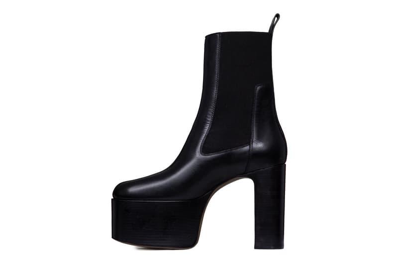 リック オウエンス Rick Owens チャンキー ハイヒール ブーツ Larry Elastic Kiss Boots in Black