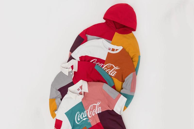 Ronnie Fieg Teases Hawaii-Themed Coca-Cola Collaborations bottles polo shirts colorblocked KITH surf contest hoodie crew neck soft drinks