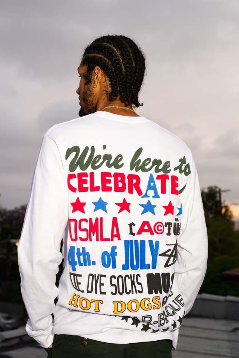 ステューシー CPFM Stüssy x カクタス プラント フリーマーケット Cactus Plant Flea Market for DSM LA dover street market los angeles july 4 collaboration collection cpfm shorts jeans tee shorts release date info buy