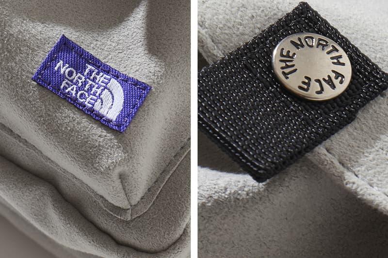ノースフェイス パープルレーベル ナナミカ The North Face Purple Label Suede Waist Bags Beige Light Navy Black Ballistic Nylon ripstop fabric microfibre leather purple patch logo sewn branding pocket metal button