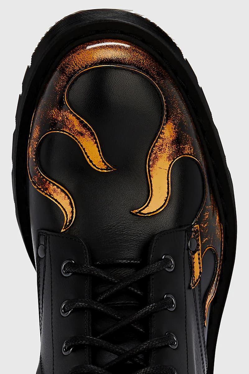 ヴェトモン デムナ・ヴァザリア Vetements Flame Detailed Leather Boot Barneys New York Black Orange Yellow
