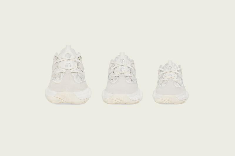 YEEZY 500 アディダス カニエ・ウェスト イージー 新色 Bone White ファミリー サイズ 展開 発売 決定