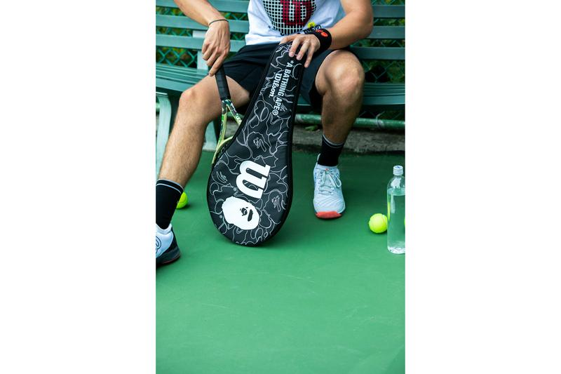 BAPE ベイプ  A BATHING APE®️ ア・ベイシング・エイプ  Wilson ウィルソン Tennis テニス カプセル コレクション Capsule Collection 機能性 tシャツ high performance Racket Visors Caps キャップ Wrist Bands Head Bands T-Shirts Camouflage Black Red