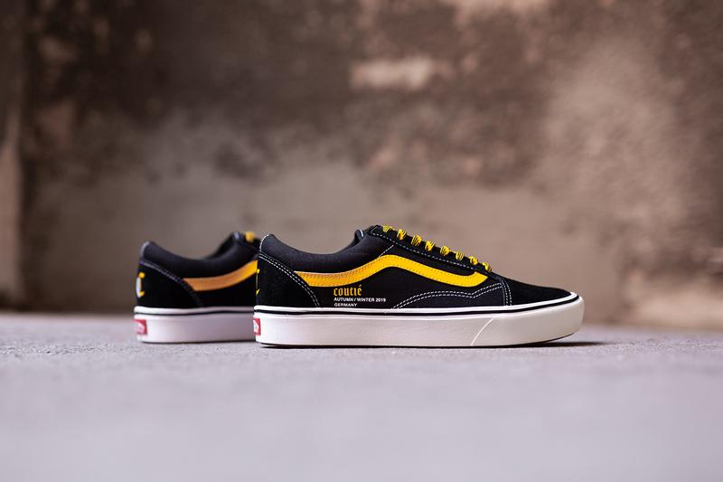 """Coutié x Vans Old Skool """"Old C Logo"""" Black White Yellow Sneaker Release Information Limited Edition ComfyCush Technology Jazz Stripe License Plate Waffle Sole Unit Vulcanized Footwear Skateboarding California Shoe"""