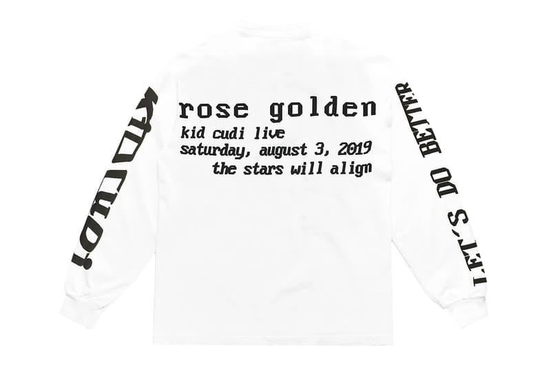 Kid Cudi & Cactus Plant Flea Market Drop New Graphic Shirt text black white rose release Passion, Pain & Demon Slayin'