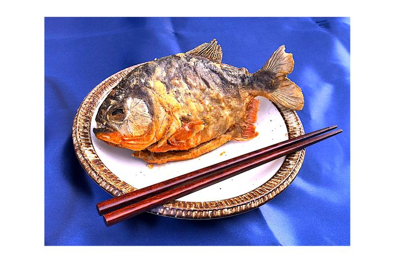 Worlds First Piranha Ramen ピラニア ラーメン 期間限定 アマゾン Holiday Jack April Fools Joke Ninja Bar and Cafe Asakusa 浅草 東京 September 20 23 1000 servings edible amazon river south america