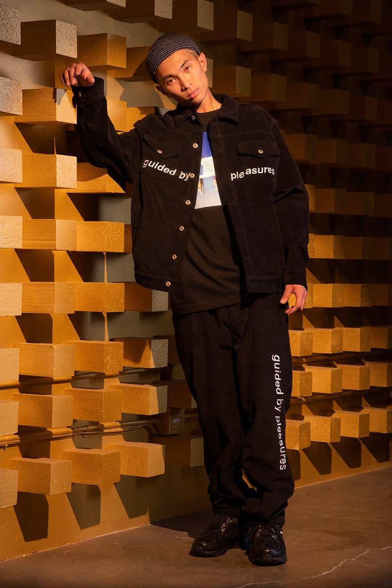 プレジャーズ PLEASURES 2019年秋冬 ルックブック Fall Winter 2019 Collection information overload sherpa fleece jacket graphic t shirts tees hoodies sweaters cardigans shorts alex james