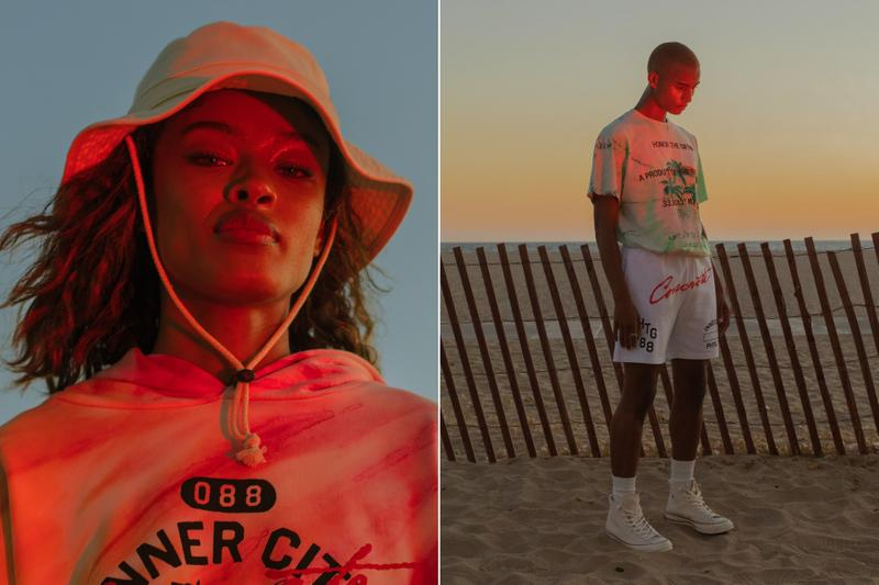 """ラッセル・ウェストブルックの手がけるアパレルブランド オナー ザ ギフトが最新ルックブックを公開 Russell Westbrook's Honor the Gift """"Concrete Jungle"""" Collection lookbooks California tie dye neon colors"""