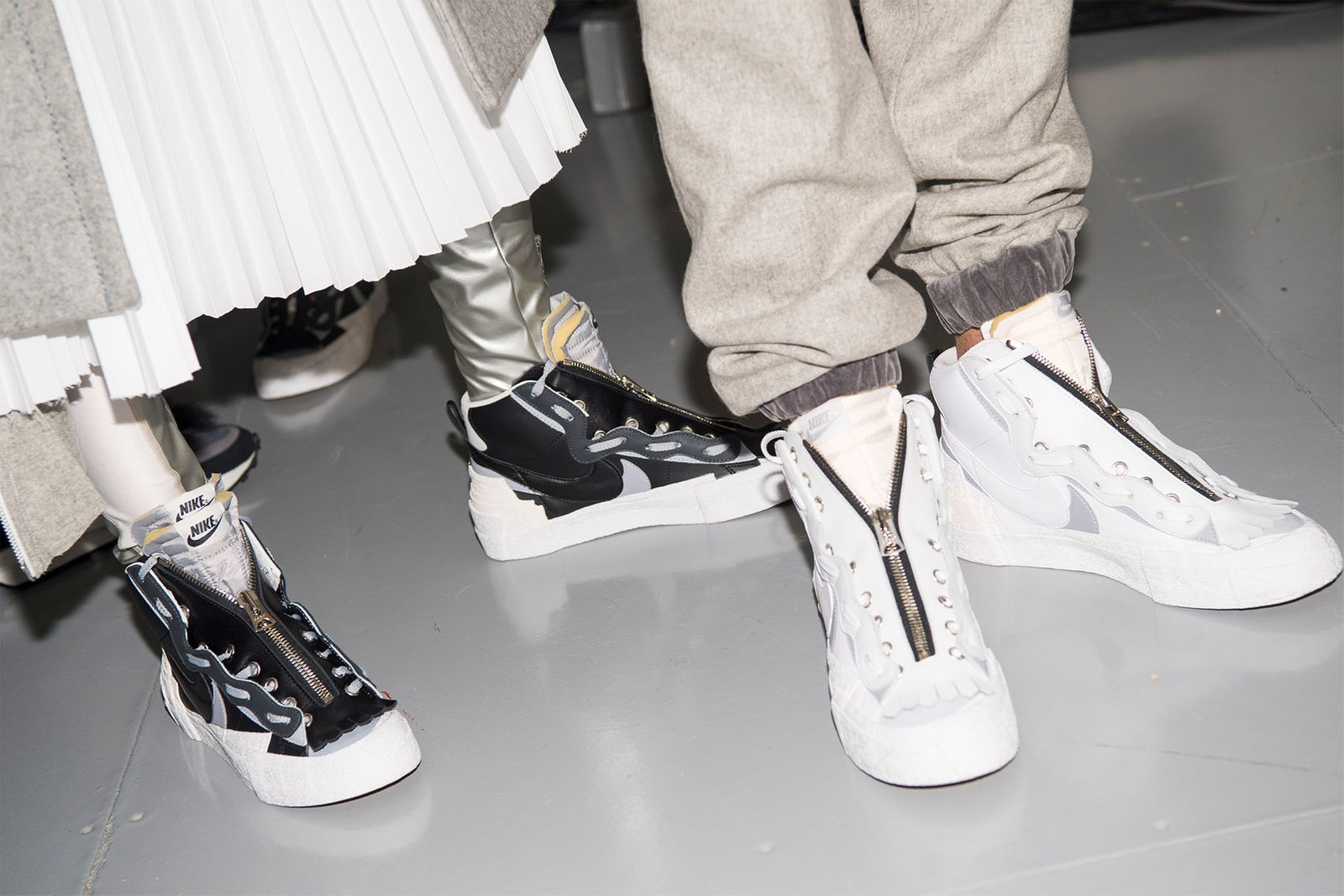 サカイ ナイキ sacai が Nike とのコラボスニーカーに装着できるシューズ用アクセサリーを限定発売 LDWaffle Blazer Mid