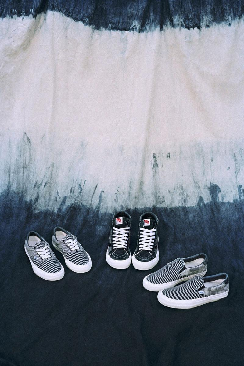 Vans Workwear Mt Vernon Pack Release Info sk8 hi slip on era striped footwear denim apparel fabric textile mount vernon mills oldest in us