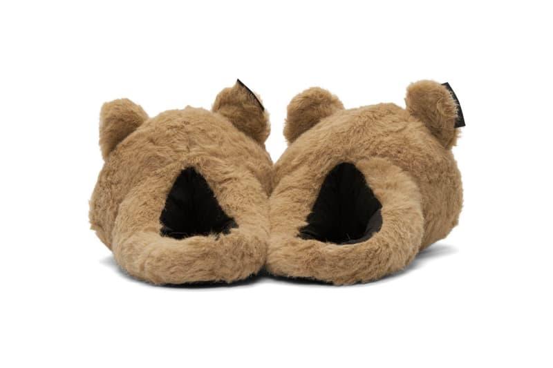 ヴェトモン ぬいぐるみ リュック シューズ スリッパー 新作 バックパック エッセンス 2019 Vetements Teddy Bear Slippers & Backpack Release Info 192669M166002 192669M231002 beige tan drop date SSENSE mohair camel faux fur demna gvasalia