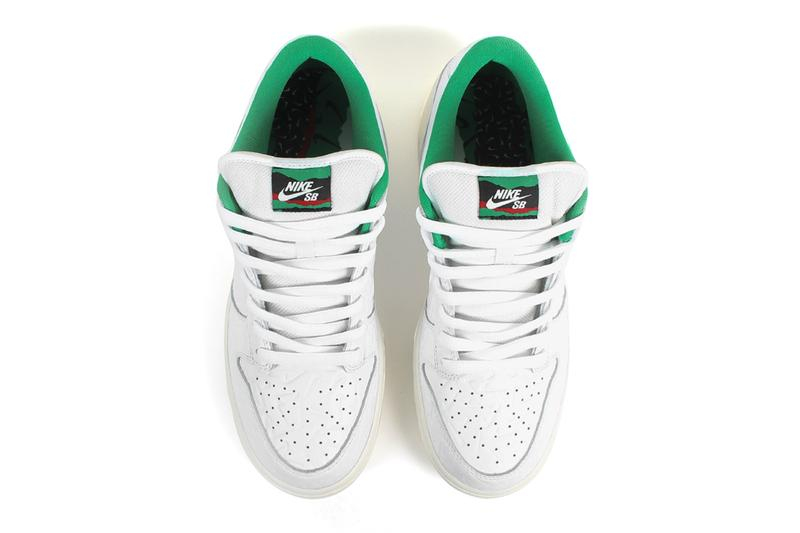 Ben-G Nike SB ナイキ Dunk Low ダンク ロー コラボ Official Look embossed スケートショップ オランダ アムステルダムswoosh スニーカー white green release info date buy price
