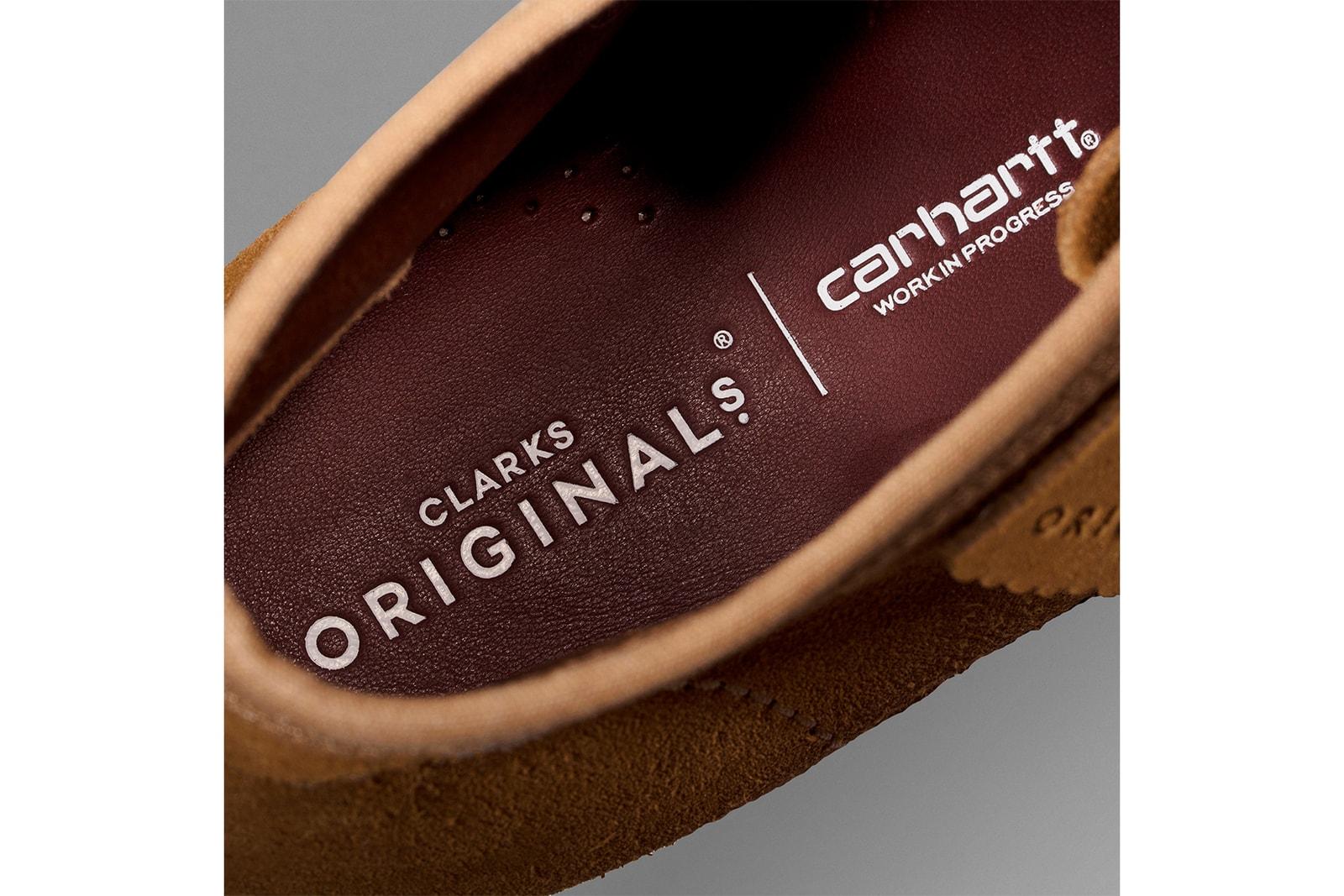 クラークスオリジナルズ カーハートWIP コラボ シューズ 発売 Clarks Originals Carhartt WIP Wallabee Boot