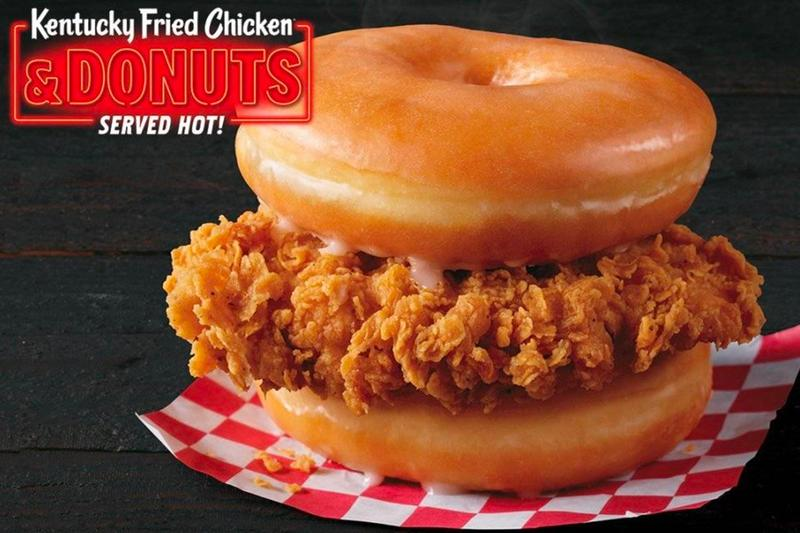 KFC ケンタッキー フライド Chicken チキン Donuts ドーナツ Select Locations グレイズド サンドイッチ Test Sandwich Info Buy Where Near Me Glazed